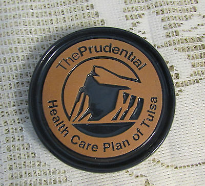 "Frankoma  Blue Coaster ""the Prudential"" Health Care Plan Of Tulsa"
