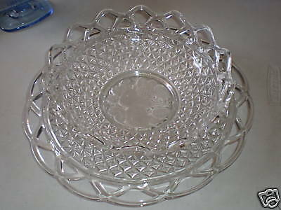 Imperial Crystal Intaglio Fruit Bowl & Belmont Plate