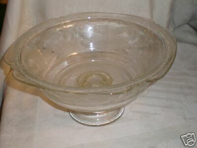 "MADRID Crystal Federal Glass 9.5""  FOOTED PEDSTAL BOWL"
