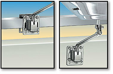 Marine Boat Mount Magma BBQ Flat Square Rail Mount Stainless Steel