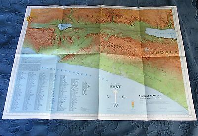 Pictorial Archive Historical Map of the Bible Lands, Patriarchs to Ezra-Nehemiah