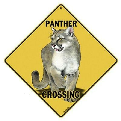 "Panther Metal Crossing Sign 16 1/2"" x 16 1/2"" Diamond shape #344"