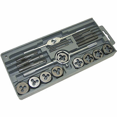 Heavy Duty Professional 20pc Tap And Die Set High Carbon Steel Case Cutter Tools