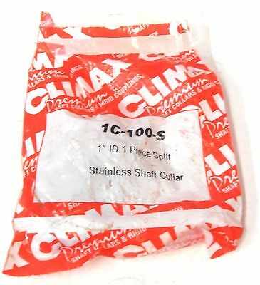 "Climax Metal Products 1C-100-S Shaft Collar Clamp, 1"" Id"