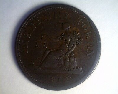 ICOIN - 1812 Lower Canada Penny Token - VERY FINE
