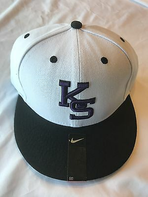 100% authentic 4bacf bdbf4 Kansas State Wildcats hat Nike white and black cap fitted Size 7 1 2 NWT