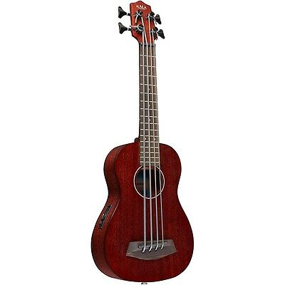 Kala Rumbler Fretted Acoustic Electric U-BASS Natural Mahogany LN