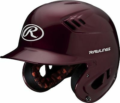 Rawlings R16 R16S-MA Senior (6 7/8 - 7 5/8) Metallic Maroon Batting Helmet
