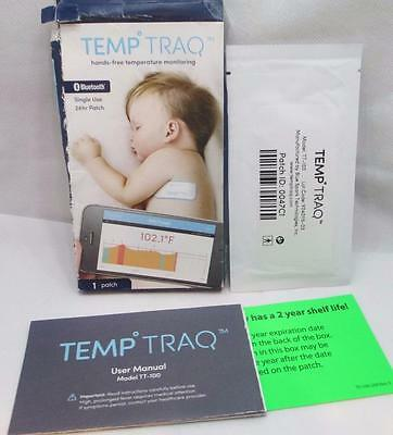 TEMP TRAQ Babies Bluetooth Thermometer Tracking Tracker 24 Hour Patch 5/2017+1yr