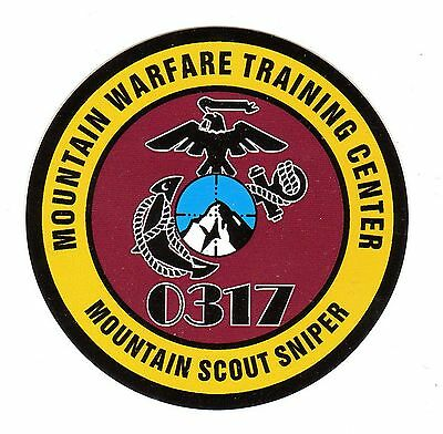Marine MWTC - Mountain Scout Sniper Decal