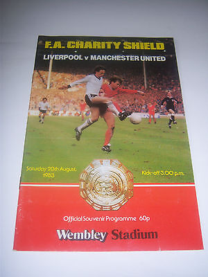 1983 FA CHARITY SHIELD - LIVERPOOL v MANCHESTER UNITED - FOOTBALL PROGRAMME