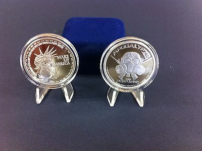 """1oz -1 Troy Ounce .999 Fine Silver Proof Zombie Coin Bullion """" Wake Up America """""""