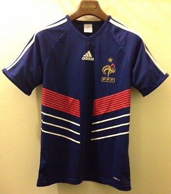 Men's ADIDAS France Home Soccer/Football Jersey FFF ClimaLite Size S Blue Red