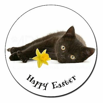 Black Cat /'Happy Easter/' Fridge Magnet Stocking Filler Christmas Gi AC-185DA1FM