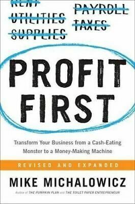 NEW Profit First By Mike Michalowicz Hardcover Free Shipping