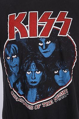 "Vtg 80S Kiss ""Creatures Of The Night"" Rock Tour T Shirt Mens Xl"