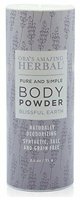Natural Body Powder W/ Blissful Earth Scent by Ora's Amazing Herbal Topselling
