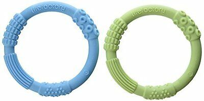 BPA-Free Multi-Sensory Silicone Teether - Soothe Aching Gums 2Pc by Lifefactory