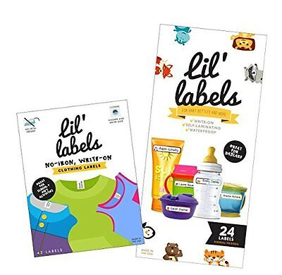 Write On Name Labels - Get Your Baby Bottles & Extra Clothes Ready For Daycare
