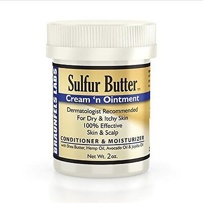 Sulfur Butter Cream 'n Ointment - for Dry & Itchy Skin & Scalp 8oz by Braunfels