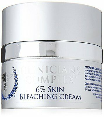 6% Skin Bleaching Cream Great for Removing Sun Spots & Age Spots 2 oz