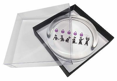 Kittens Bursting Balloons Glass Paperweight in Gift Box Christmas Pres, AC-202PW