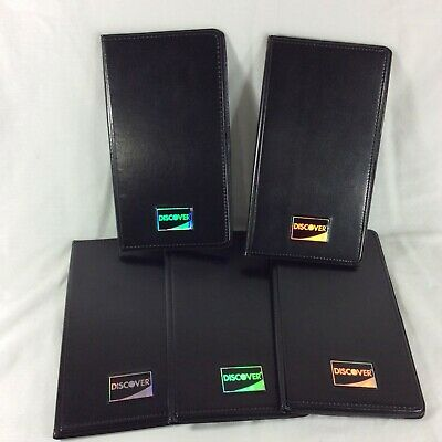 Discover Card Folder Holder Bill Slip Credit Charge Pay Black Plastic Restaurant