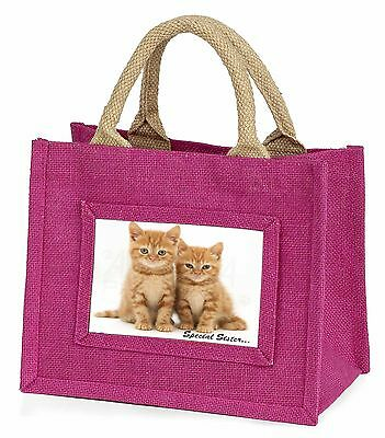 Ginger Kittens 'Special Sister' Little Girls Small Pink Shopping Bag , AC-207BMP