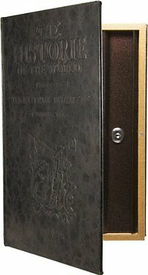 Large Antique Book Lock Box with Key Lock Antique Safe to keep valuables