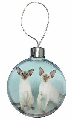 Two Siamese Cats Christmas Tree Bauble Decoration Gift, AC-22CB