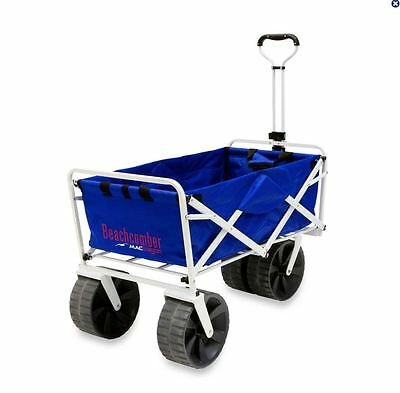 All-Terrain Beach Wagon Cart Folding Collapsible Utility Garden Buggy Shopping