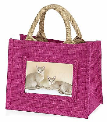 Two Abyssynian Cats Little Girls Small Pink Shopping Bag Christmas Gif, AC-27BMP