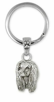 Afghan Hound Key Ring Jewelry Sterling Silver Handmade Dog Key Ring AF4-K
