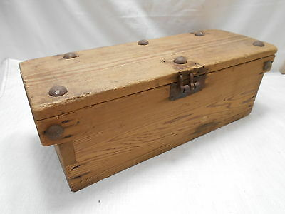 Antique Sugi Wooden Document Storage Box Japanese Circa 1920s #618