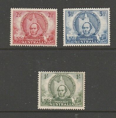 "1946 Mitchell Exploration Set Of ""3"" Mint Unhinged Fresh"