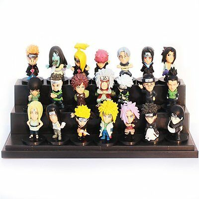 "Naruto Shippuden Pedia Heroes 21 pcs Toy Mini Figure Doll 2"" All Characters Set"