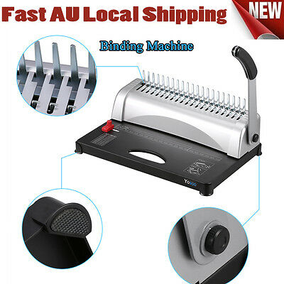 Useful Paper Office Comb Binding Machine 21 Hole A4 Plastic Coil Punch Binder AH