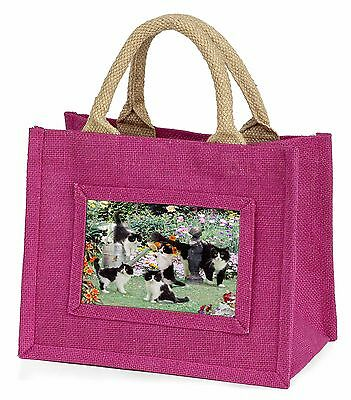 Cats and Kittens in Garden Little Girls Small Pink Shopping Bag Christ, AC-65BMP
