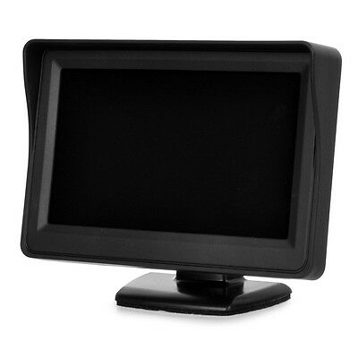 New 4.3 inch LCD Digital Monitor Displayer with Built-in speaker for Car - Black