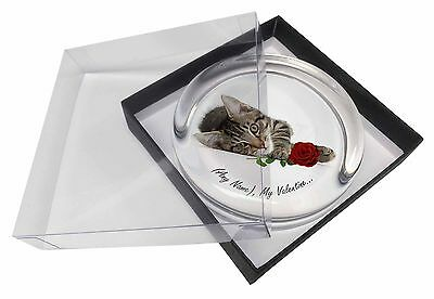 Personalised (Any Name) Glass Paperweight in Gift Box Christmas Pres, VAC-204RPW