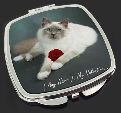 Personalised (Any Name) Make-Up Compact Mirror Stocking Filler Gift, VAC-85RCM