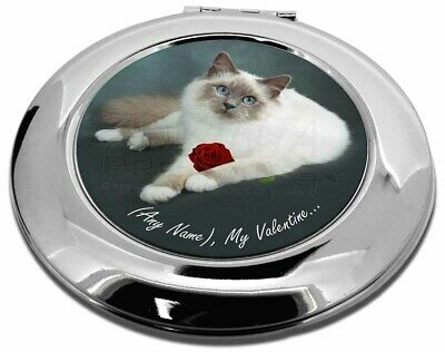Personalised (Any Name) Make-Up Round Compact Mirror Christmas Gift, VAC-85RCMR
