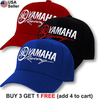 Yamaha Logo Cap Factory Racing Motorcycle Hat YZ 80 85 125 250 450 R1 R6 FZR