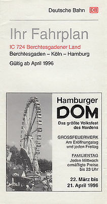 Ihr Reiseplan Db Ic 724 Berchestgadener Land April 1996 (Agk1608)