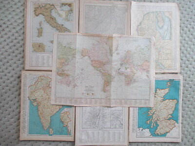 Lot of Early 1920s and 30s Atlas maps of Countries and World Cities -