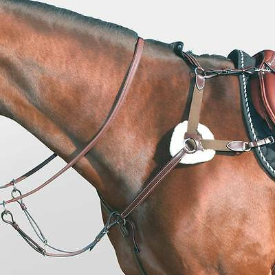 Mark Todd English Leather Horse Riding Eventing Cushioned 5 Point Breastplate
