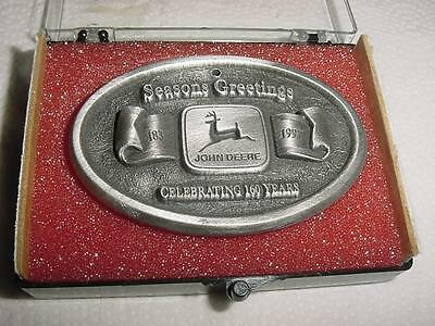 Limited Edition 1997 John Deere Christmas Ornament 160 Years MINT Spec Cast