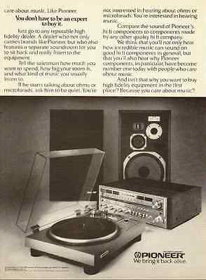 1978 vintage ad for Pioneer Hi-Fi Phonograph Components  -032812