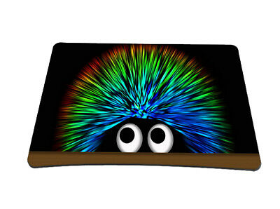 Silent Monsters Gaming und Office Mauspad 24 x 20 cm, Mousepad Design: Hedgehog