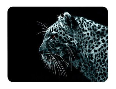 Silent Monsters Gaming und Office Mauspad 24 x 20 cm, Mousepad Design: Leopard